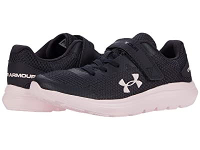 Under Armour Kids Surge 2 (Little Kid) (Blackout Purple/Beta Tint/Beta Tint) Girls Shoes