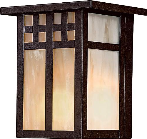 "popular Minka Lavery 8601-A179 Scottsdale II Outdoor Wall Sconce, 1-Light 60 Watt, popular 7""H x 6""W, Textured sale French Bronze outlet online sale"