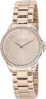 ساعة يد كوارتز للنساء من الستانلس ستيل بلون ذهبي وردي من كوتش- موديل 14503505