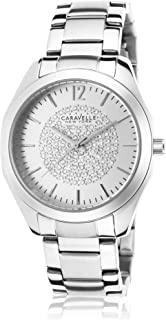 Caravelle New York Women's 43L179 Analog Display Analog Quartz White Watch