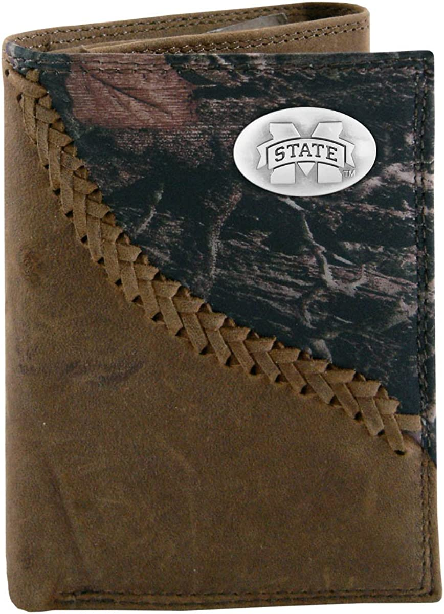 NCAA Mississippi State Bulldogs Zep-Pro Trifold Concho Wallet Popular brand Excellent C
