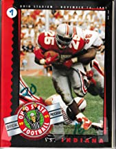 1991 Ohio State vs Indiana Football Prog 11/16/1991 Carlos Snow 50