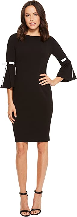 Calvin Klein - Bell Sleeve with Tie Sleeve Detail CD8C14LD