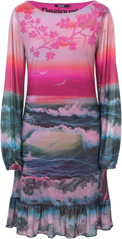 Desigual Women's 18WWVK20MULTI Multicolor Polyamide Dress