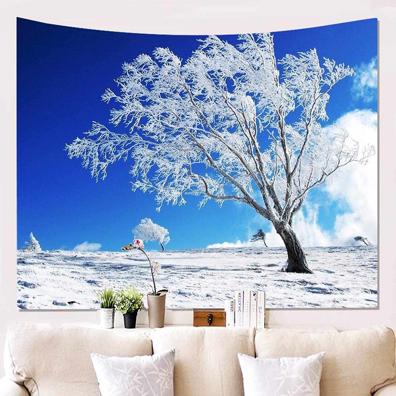 GAOWF Tapisserie Wandbehang Wandbehang Wandbehang Room Decor Hanging Wandbehang, 3D Schnee Wandverkleidung Hanging Tuch Hintergrund Malerei Wand Dekor Wandbild Bettdecke Bettwäsche,F,150  102Cm B07H6ZPP4L 421792