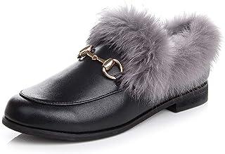 4b829b85 EU10 Forro de la Mujer Invierno Impermeable al Aire Libre Antideslizante  Calientes Zapatos Planos Tobillo Botas