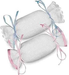 Crociedelizie, Stock 40 sacchetti caramelle bomboniere portaconfetti segnaposto in tela aida da ricamare a punto croce
