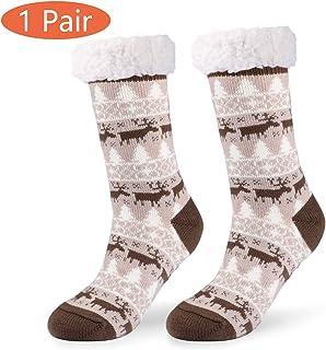 66b57c8ff8ac0 Philonext Pas de chaussettes Slipper Slip, cadeau de Noël Cerf Flocon De  Neige Chaud Confortable