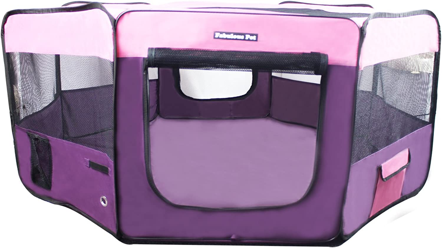 Fabulous Pet Water Resistant Portable Doggie, Dog, Puppy, Cat, Kitten Play Pen(Medium Small)