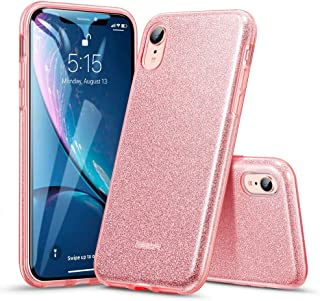 ESR Makeup Glitter Case Compatible for iPhone XR Case, Glitter Sparkle Bling Case [Three Layer] for Women [Supports Wireless Charging] for The iPhone XR 6.1