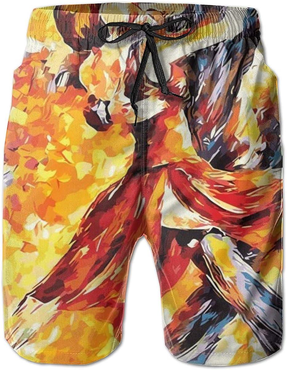 YongColer Men Beach Board Shorts Surfing Swimwear Swim Trunks (Love Dance Waltz Paint)