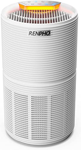 RENPHO Air Purifier for Home with H13 True HEPA Filter, 5-Stage Filtration, Quiet Sleep Mode Night Light, Removes 99....