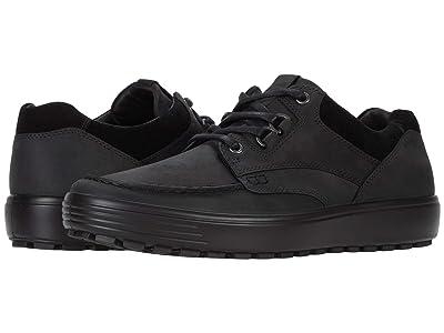 ECCO Soft 7 Tred Moc Tie (Black/Black) Men
