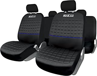 SPARCO Universal Seat Cover Lazio Set, Black/Blue, Spc1042Az