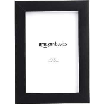 "AmazonBasics Photo Frame with Stand, Set of 2 | 4"" x 6"", Black"