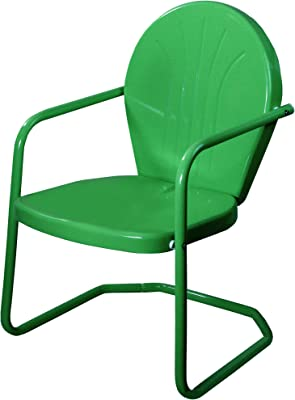 Northlight 34-Inch Outdoor Retro Tulip Armchair, Forest Green