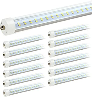 JESLED 8ft LED Light Bulbs - Single Pin Fa8 Base, T8 T10 T12 8 ft LED Tube, 50w, 5000k Daylight, 6000lm (100-130w Equivalent), 96