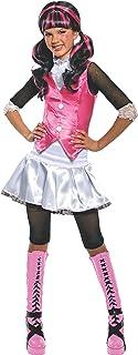 Monster High - Disfraz de Draculaura para niña, infantil 8-10 años (Rubie`s 884787-L)