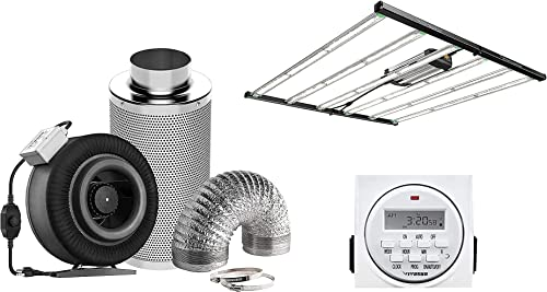 popular VIVOSUN 8 Inch online sale 740 CFM Inline Fan Package, with VS6450 Foldable LED Grow Light and 7 Day Programmable Digital Timer, Samsung & OSRAM popular Diodes outlet sale