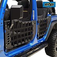 EAG Matrix Tubular Door with Side View Mirror Fit for 07-18 Jeep Wrangler JK 4 Door Only