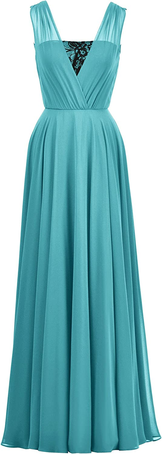 Alicepub Aline Bridesmaid Dress for Women Formal Long Evening Party Gown Maxi