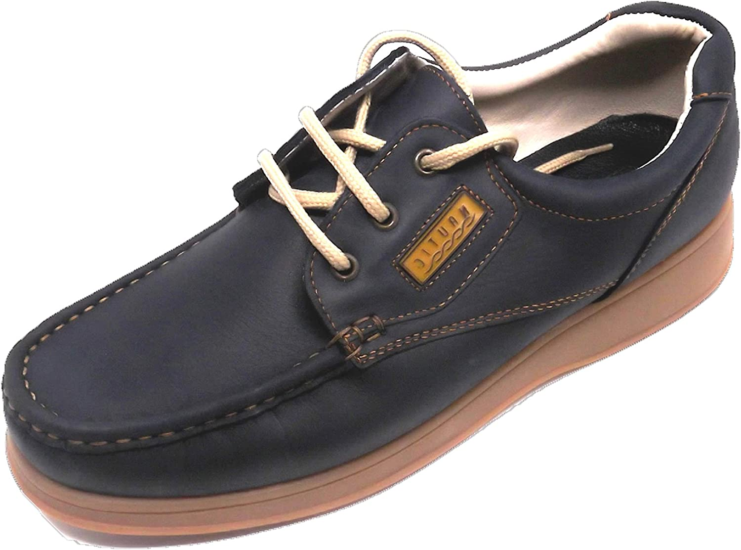 Himalaya shoes Man Teenage Boys Closure  Laces Upper Material  Leather bluee color Outsole Material  Rubber Numbers  44 45 Made in Spain