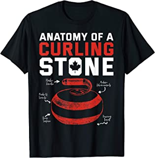 Anatomy of a Curling Stone Canadian patriotic USA T-Shirt