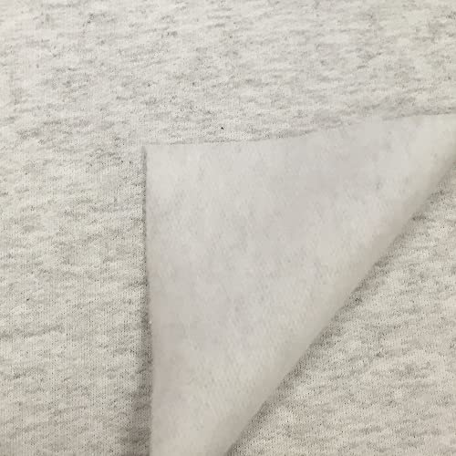 1172b6d5c9f USA Made Premium Quality Soft Cotton French Terry Fabric by the Yard -  Heather Grey -