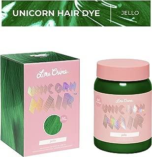 Lime Crime Unicorn Hair Dye, Jello - Emerald Green Fantasy Hair Color - Full Coverage, Ultra-Conditioning, Semi-Permanent, Damage-Free Formula - Vegan - 6.76 fl oz