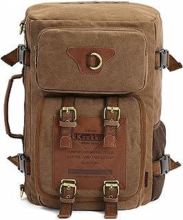Mochilas Multifuncional Travel Crawling Casual Mochila de Lona Lona de Alta Capacidad Hombro Laptop para Hombre Adecuado para Uso en Exteriores Mochila para Acampar al Aire Libre Montañismo Cami