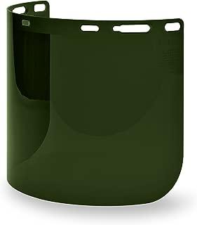 Elvex WELFS15WS5 Fs-15Ws5 Weld Shade 5 Molded Cylinder Lexan Face Shield Super Hard Coat, 15.5