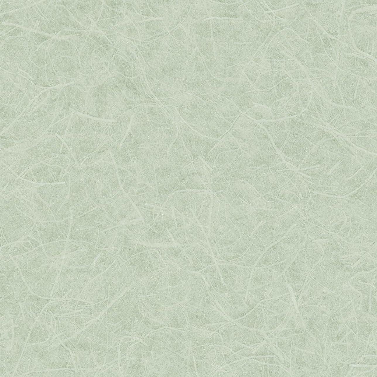 悲惨なバン豊かにするリリカラ 壁紙13m 和 和紙調 グリーン Japan LW-2651