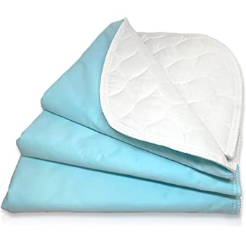 """RMS Ultra Soft 4-Layer Washable and Reusable Incontinence Bed Pad - Waterproof Bed Pads, 18""""X24"""" (3 Pack)"""