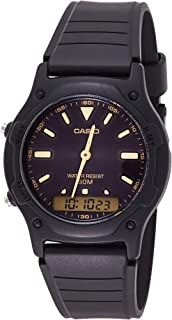 Casio Watch For Men Quartz , Analog-Digital Display and Resin Strap Aw-49He-1Avdf, Black Band