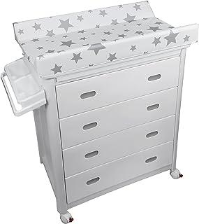 Plastimyr - Bañera con cajones y estrellas, Blanco