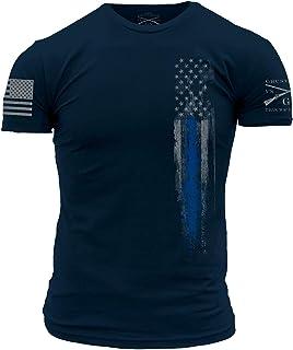 Grunt Style Blue Line Flag T-Shirt