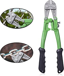 """WilFiks 12"""" Bolt Cutter, Heavy Duty Steel Chrome Alloy Jaws, Compound Cutting Action.."""