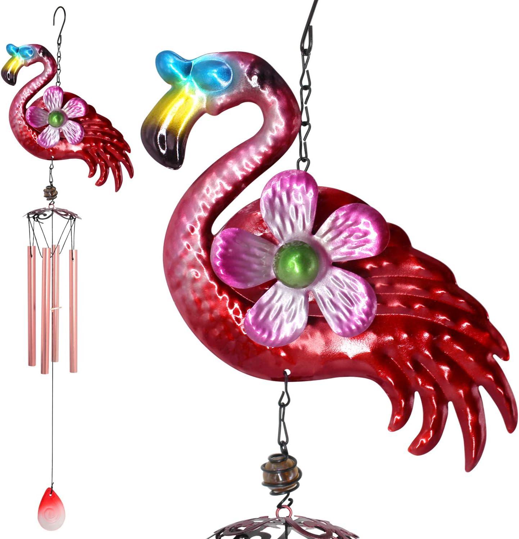 zhengshizuo Iron Flamingo Wind Chimes Decor Gifts Directly managed store Garden Columbus Mall Mom Pin