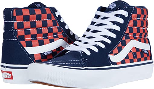 (Checkerboard) Navy/Orange