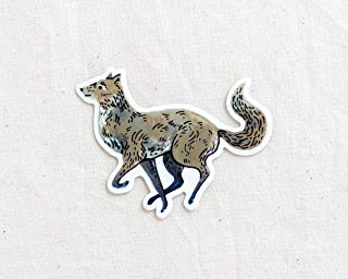 Wolf Animal Sticker - Waterproof Vinyl Sticker - Adventure Sticker - Camping and Hiking Gear - Water Bottle Decal - Car Decal