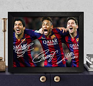 Suarez, Messi & Neymar Signed Autographed Photo 8X10 Reprint Rp Pp - Fc Barcelona