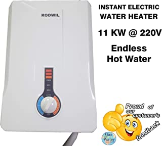 Electric Tankless Water Heater Instant On-Demand 11KW @ 220V - 12.6KW @ 240V - 2.9 GPM RODWIL
