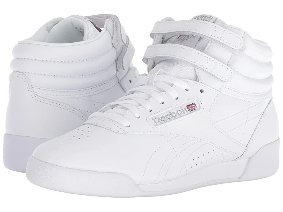 Reebok Kids Freestyle Hi (Big Kid) (White) Kids Shoes