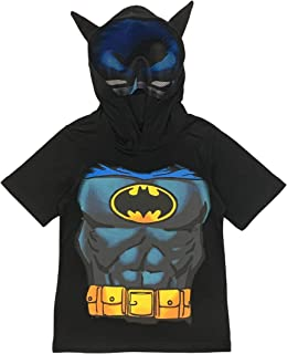 DC Comics Little Boys' Superhero Costume Tee with Mask and Cape