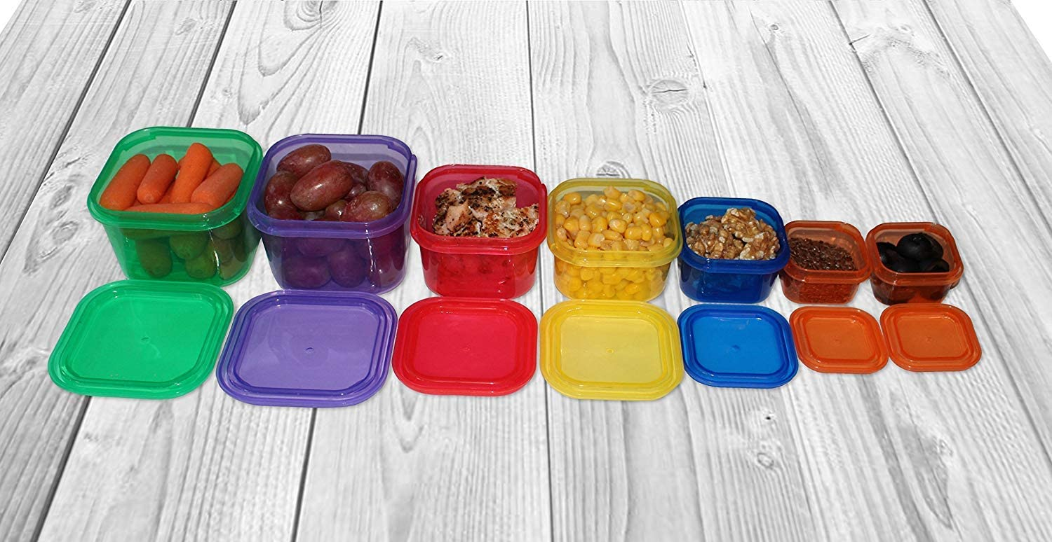 Complete Guide BPA Free 14 PC LABELED PDF Planner Multi-Color Coded Weight Loss System Nutrition Diet 21 Day Portion Control Containers Kit Recipe eBook and Tape Measure
