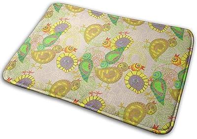 Citrus Chickens Carpet Non-Slip Welcome Front Doormat Entryway Carpet Washable Outdoor Indoor Mat Room Rug 15.7 X 23.6 inch