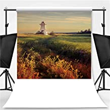 Lighthouse in Prince Edward Island Theme Backdrop Party Photography Background,Canada,10x10ft