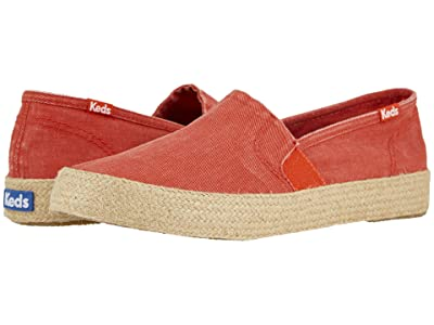 Keds Clipper Washed Twill/Jute (Red) Women