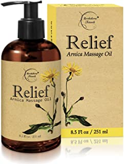 Relief Arnica Massage Oil – Great for Sports & Athletic Therapeutic Massage – All Natural - Arnica Montana for Sore Muscle...