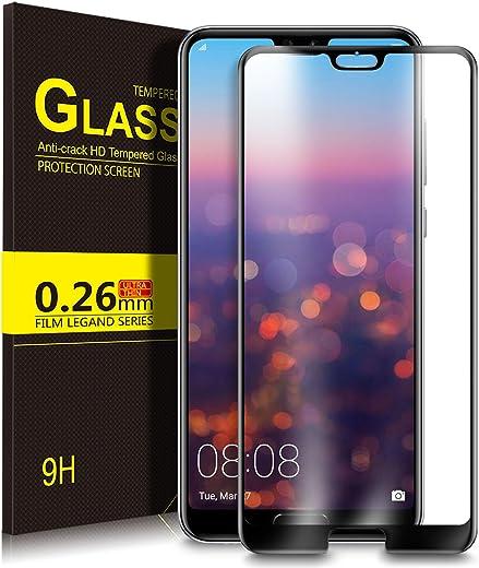 Huawei P20 Pro Pellicola Protettiva, KuGi Pellicola Protettiva [Vetro Temperato] Curvo HD Cristallo Screen Protector film per Huawei P20 Pro(nero)